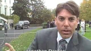 Barney bites reporter
