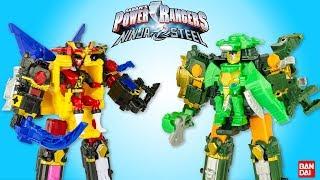 Power Rangers Ninja Steel DX Megazord Rumble Tusk Jouet Toy Review Bandai