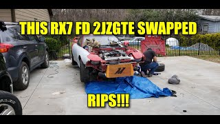 THIS RX7 FD 2JZGTE SWAPPED RIPS!!