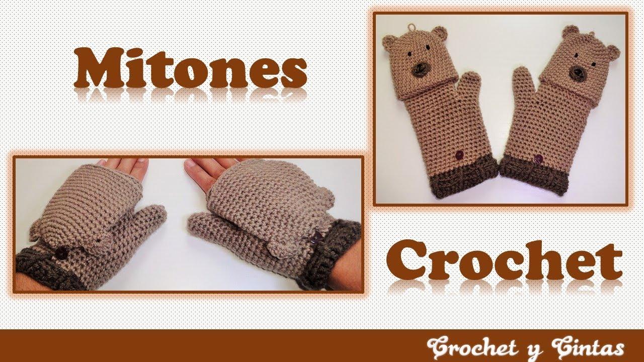Mitones – guantes sin dedos tejidos a crochet (ganchillo) Parte 2 de ...