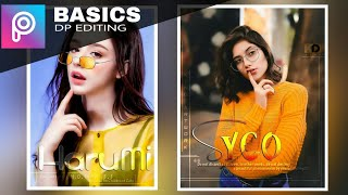 Stylish DP editing photo editing on Android phone ||picsart photo editing tutoring