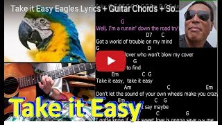 Take It Easy  Eagles  Lyrics + Guitar Chords + Solo Lesson + Busker Roy's 街頭