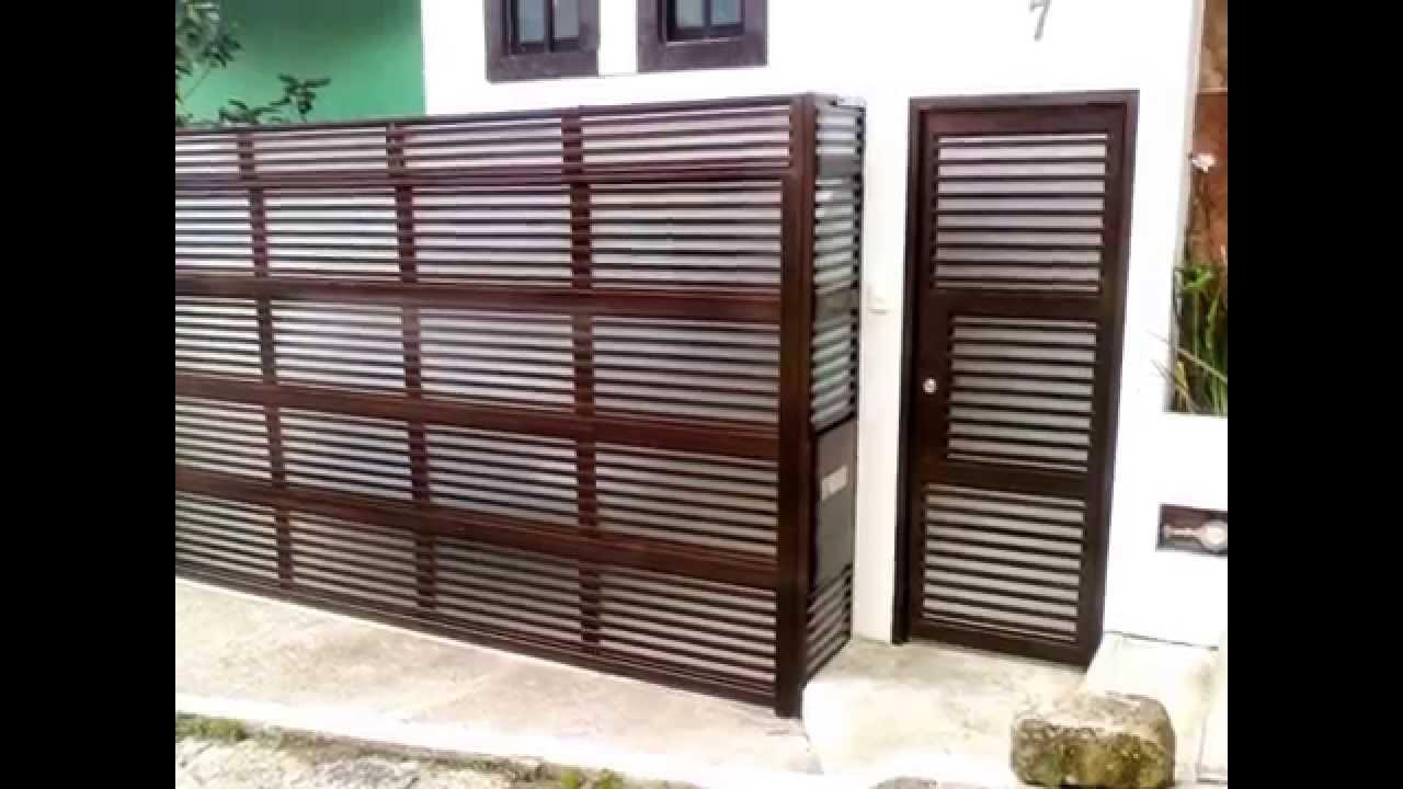 Fotos dise os y modelos de puertas automaticas vg youtube - Modelo de puertas de aluminio ...