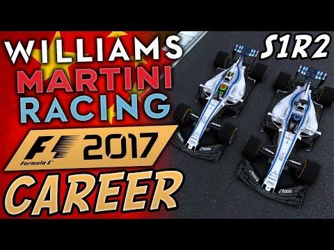 F1 2017 WILLIAMS CAREER MODE #2 | EPIC TEAM MATE BATTLE! | China!