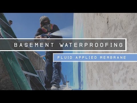 Basement Waterproofing - Fluid Applied Membrane