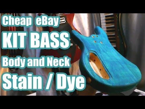 Cheap eBay Bass Kit Part 6 - Creative Wood Staining - JDSC Projects