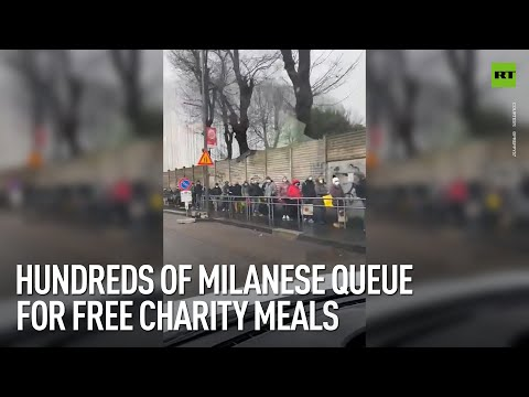 RT: Merry Christmas? | Hundreds of Milanese queue for free charity meals