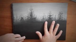 Landscape Drawing   How To Draw A Forest