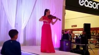 "PolskaEire 2016 Fashion show Violinist Lotta Virkkunen performing Avicii's ""Wake Me Up"""