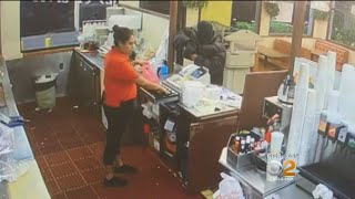 Fast Food Tables Turned When Robber Sticking Up Restaurant Shot By Someone At Drive-Thru Window, Pol