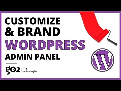 how to change admin panel in wordpress