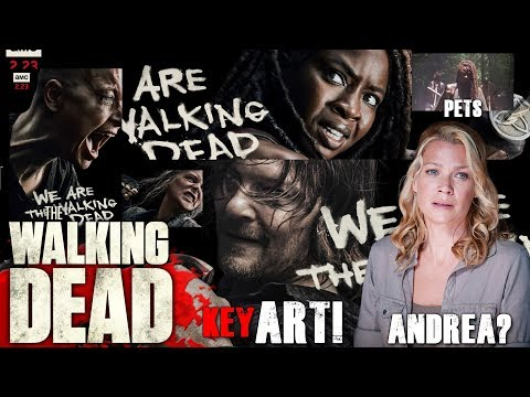 The Walking Dead Season 10 SH Key Art, Michonne's Pets Return, & Will Andrea Return?
