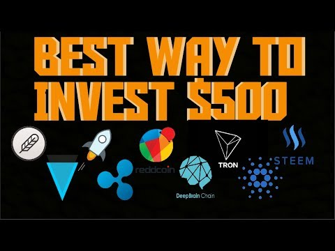 Best Way To Invest $500 In Bitcoin/Altcoins