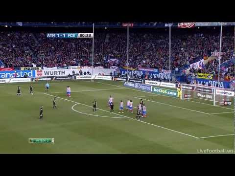 Goal by Lionel Messi against Atletico Madrid [Atletico de Madrid 1 - 2 FC Barcelona]