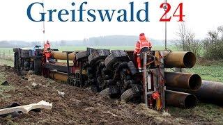 LKW Unfall auf der A20 zwischen Grimmen West / Tribsees 06.01.2015