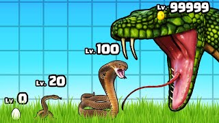 GROWING a MAX LEVEL SNAKE in Idle Snake