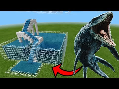 How To Make a MOSASAURUS Water Slide in Minecraft PE | MCPE Journalist