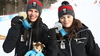 Gold und Silber im Super-G der Mädchen -  YOG Lillehammer 2016