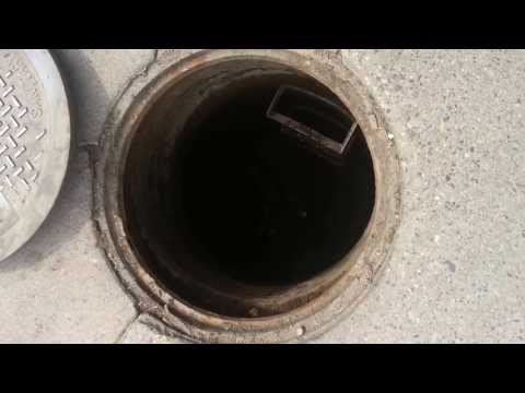 Cleaning a sanitary sewer line