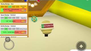 Roblox - Simulador de Enjambre de Abejas Insignia de jalea y miel de la estrella de la jalea y el as de miel