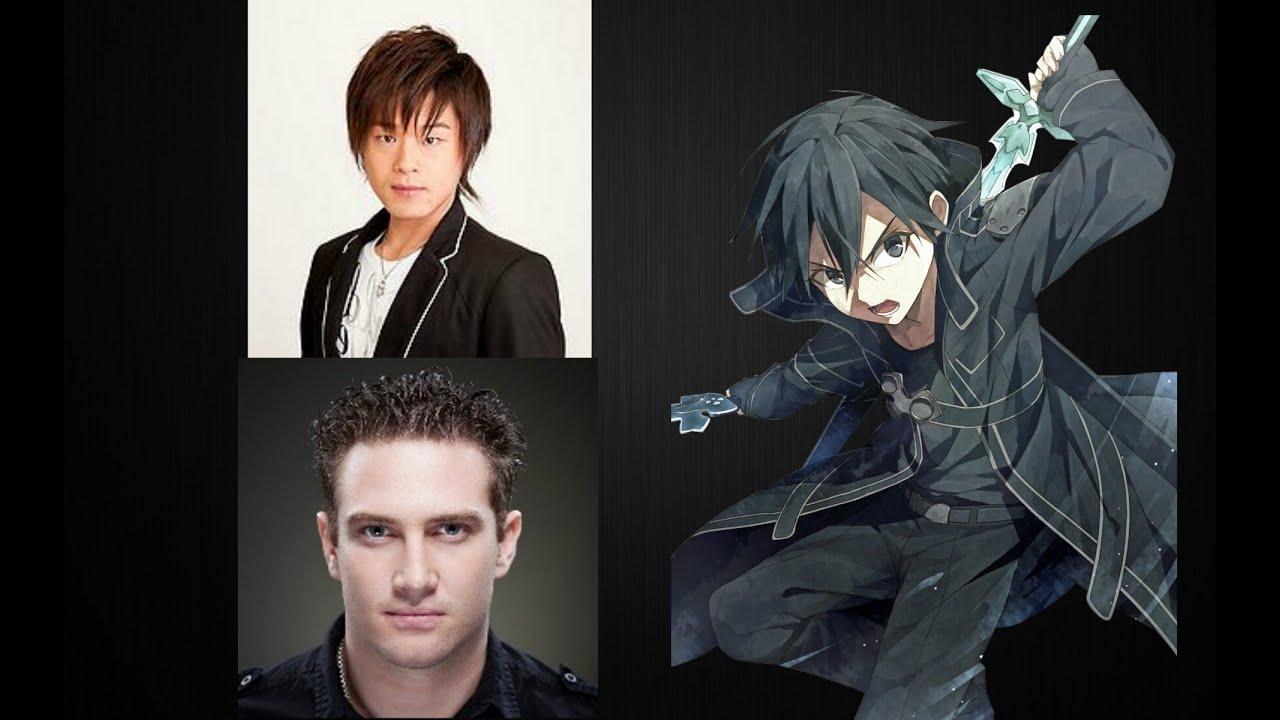 anime voice comparison kirito sword art online youtube