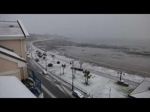 Snow in Douglas, Isle of Man 12-2017