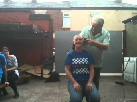 Lisa-Marie Gosling. ORCHID Male Cancer - Sponsored Head Shave ! Finishing The Job !