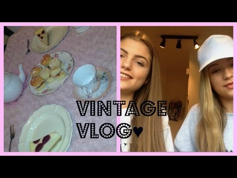 Vintage Vlog♥- Shopping and Tea Party! | Gracie Cakes ♥