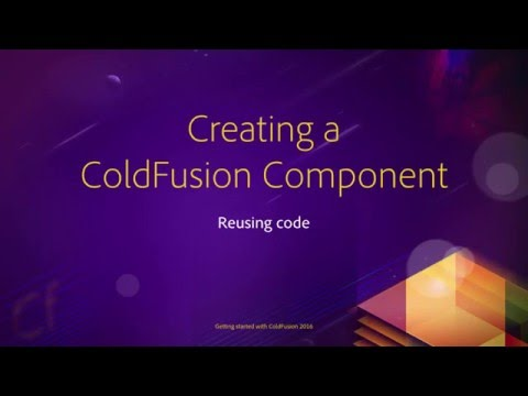 08 Reusing Code ## 09 Creating a ColdFusion component