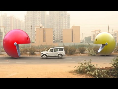 Pac-Man In Real Life | Edit With Mobile