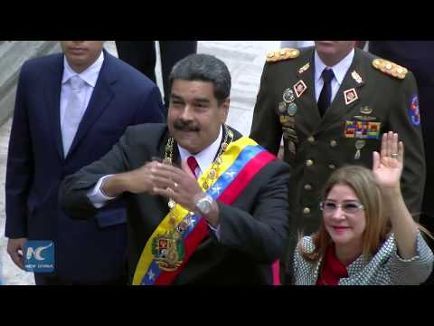 Venezuela's Maduro takes oath of office in Caracas