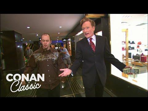 Conan Spends $400 At Rockefeller Center