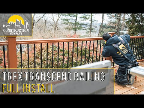 How to Install Trex Transcend Deck Railing in UNDER 10 Minutes