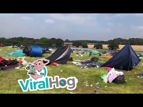 Festival Crowd Leave Filthy Field Behind || ViralHog