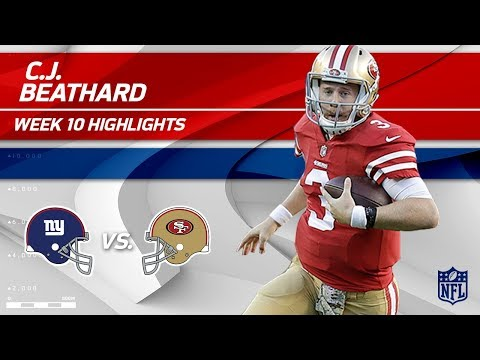 C.J. Beathard Gets 303 Total Yards & 3 TDs to Help Defeat NY! | Giants vs. 49ers | Wk 10 Player HLs