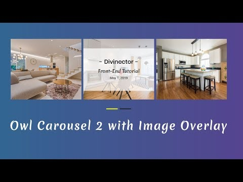 Owl Carousel 2 with Image overlay | How to make a responsive