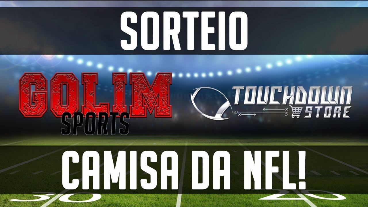 d35bf48096 SORTEIO de uma CAMISA DA NFL! - Golim Sports e Touchdown Store Brasil