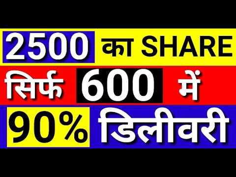 2500 का शेयर सिर्फ 600 में | 90% डिलीवरी | LATEST SHARE MARKET NEWS | STOCK MARKET LATEST NEWS |KKCL