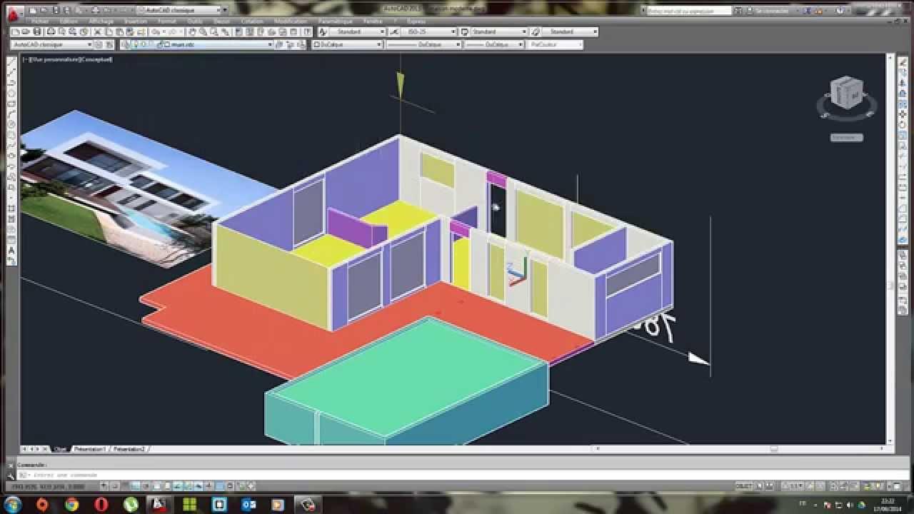 Mod lisation en 3d d 39 une maison moderne partie 3 youtube for Modelisation maison 3d