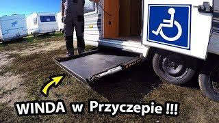 Przyczepa Kempingowa dla NIEPEŁNOSPRAWNYCH !!! - Jak działa podnośnik dla Wózka ???