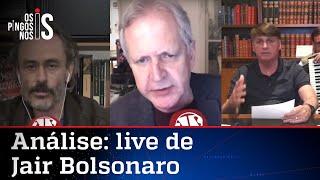 Comentaristas analisam live de Bolsonaro de 30/07/20
