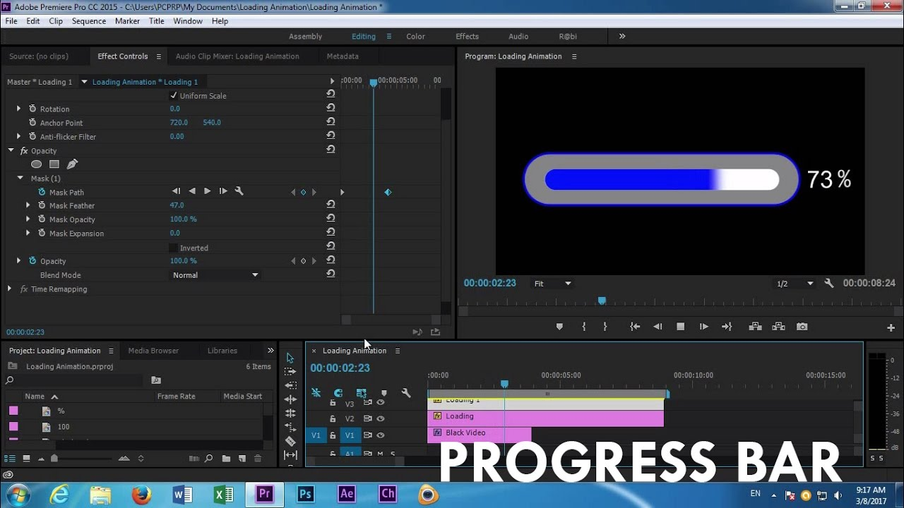 how to create a title premiere pro cc