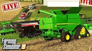 A MILLENNIAL FARMER LIKE BEAN HARVEST | FARMING SIMULATOR 19 LIVE STREAM