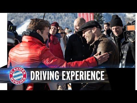 Mario Götze trifft Jason Statham bei der Audi Driving Experience