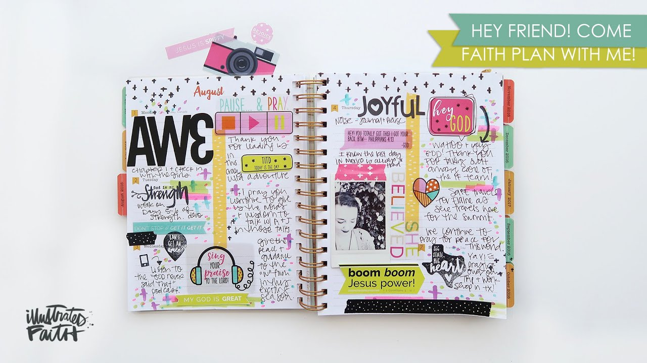 Faith plan with me illustrated faith planner