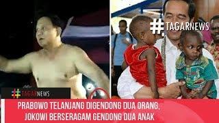 Download Video Prabowo T3l4n74ng Digendong Dua Orang, Jokowi Berseragam Gendong Dua Anak MP3 3GP MP4