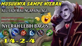 SOLO RANK KETEMU TOP GLOBAL MIYA AUTO WIN!!! BADGAMER ALUCARD MOBILE LEGENDS