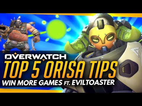 Overwatch | Top 5 PRO Tips for Orisa - Win More Games! (ft EvilToaster)