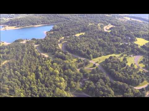 Flying over Round Valley NJ