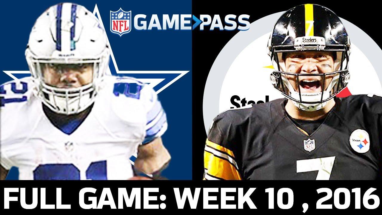 Dallas Cowboys vs. Pittsburgh Steelers Week 10, 2016 FULL Game